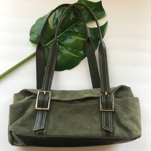 Kenneth Cole Leather Handbag, Leather Purse, Green